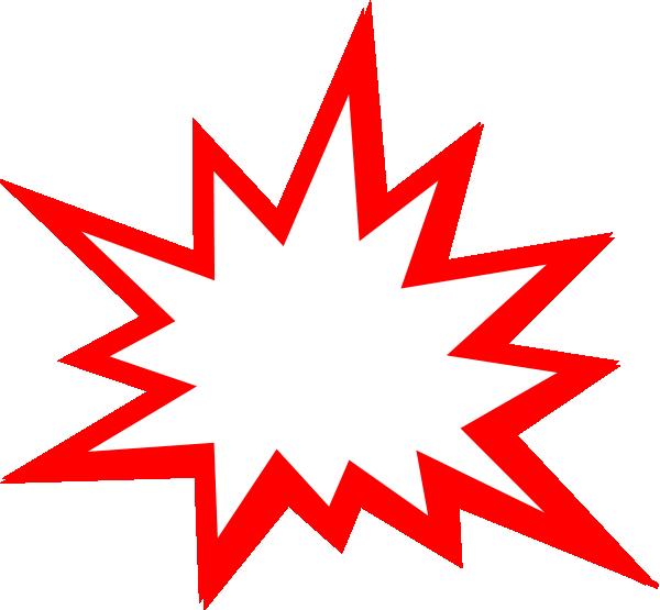 Red Explosion Clip Art at Clker.com vector clip art online, royalty ...