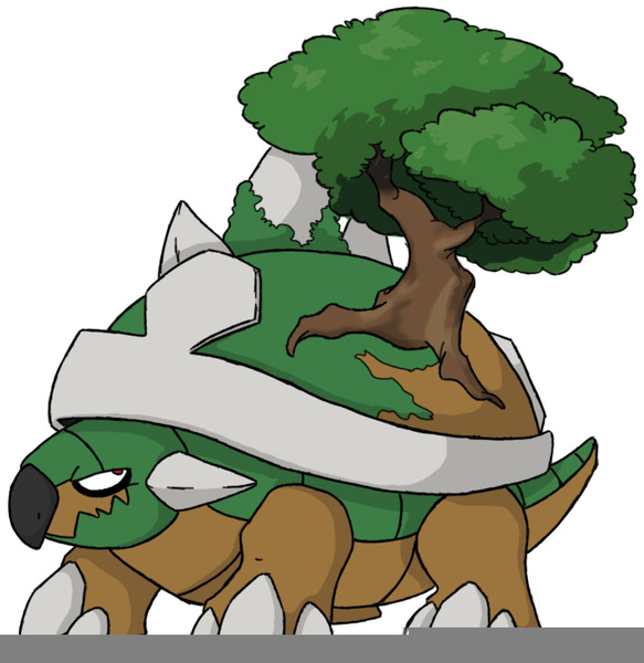 Pokemon torterra evolution free images at vector clip art online royalty free - Evolution tortipouss ...