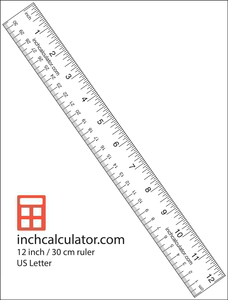 Printable Paper Ruler | Free Images at Clker com - vector