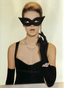 Black Cat Eye Mask Vintage Photo Image