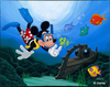 Mickey Mouse Diver Clipart Image