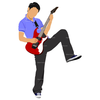 Electric Guitar Player Clipart Image