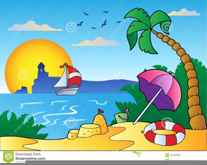 Beach scene. Free clipart images at