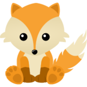 Kawaii Cute Fox Cub Cartoon Image
