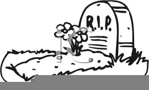 Rip Headstone Clipart Image
