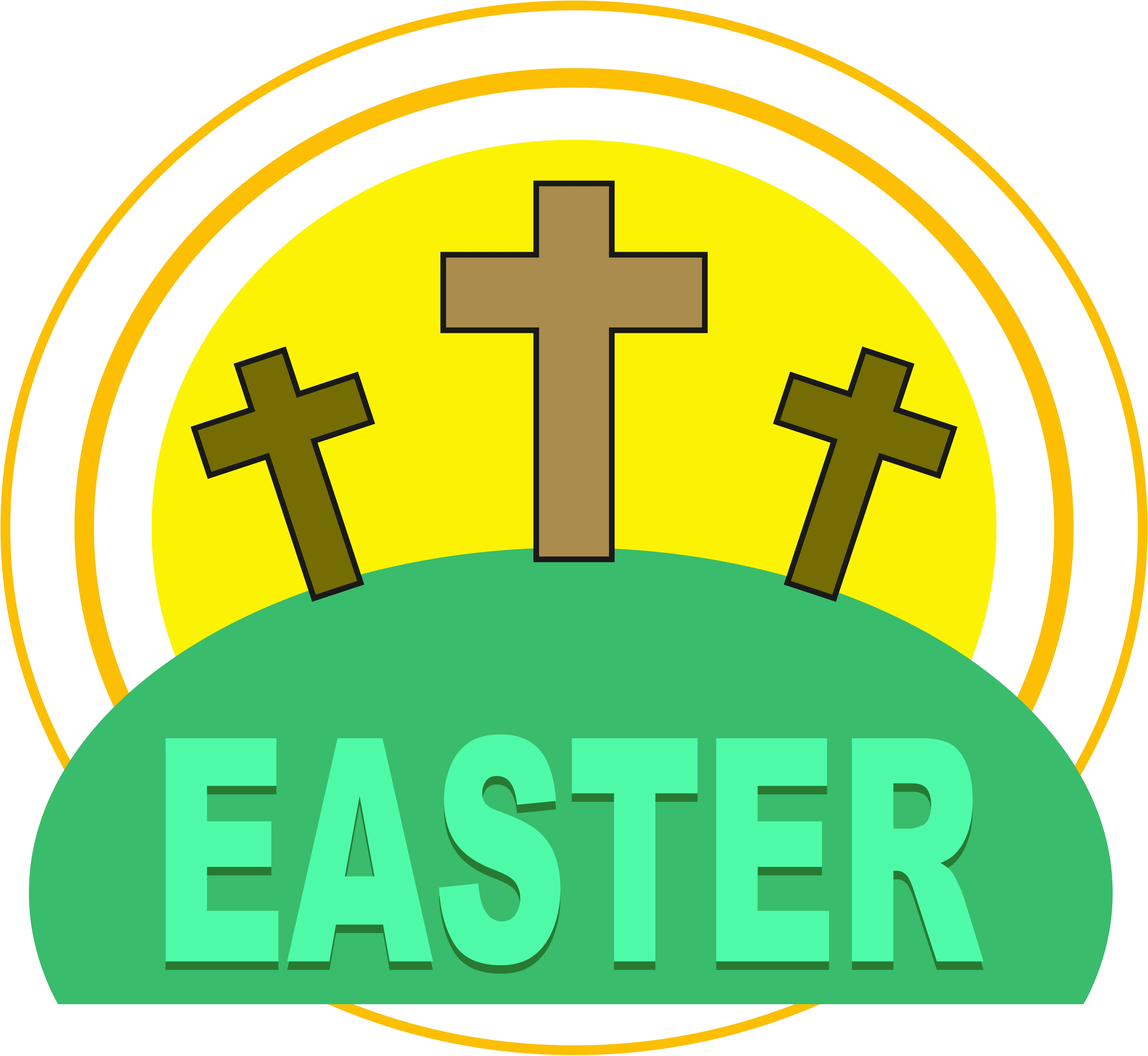 Easter calvary free images at vector clip - Christian easter images free ...