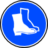 Mandatory Feet Protection Hard Boots Clip Art