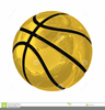 Black Background Basketball Clipart Image