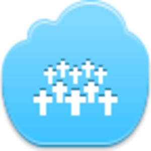 Free Blue Cloud Cementary Image
