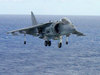 An Av-8 Harrier Approaches The Ship S Flight Deck Image