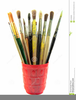 Paint Brushes Clipart Image
