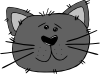 Cartoon Cat Face Clip Art