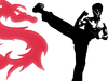 Martial Arts Dragon Clipart Image