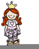 Colored Clipart Of Girls Image