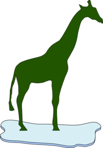 Giraffe On Ice Clip Art