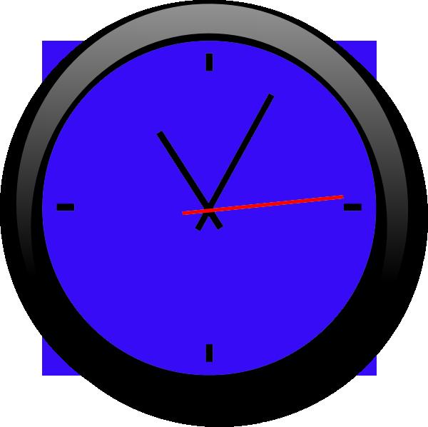 Clock Blue A | Free Images at Clker.com - vector clip art ...