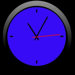 Clock Blue A Free Images At Clker Com Vector Clip Art