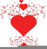Free Clipart Hearts And Kisses Image