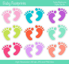 Baby Boy Footprints Clipart Image