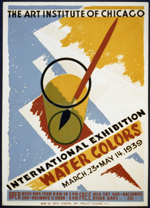 International Exhibition - Water Colors The Art Institute Of Chicago - March 23 - May 14 1939. Image