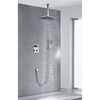 Chrome Finish Contemporary Thermostatic Led Digital Display Inch Square Showerhead And Handshower Image
