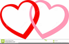 Two Heart Wedding Clipart Image