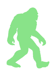 Big Foot Glow Dark Green Cut Image