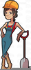 Female Construction Worker Clipart Image
