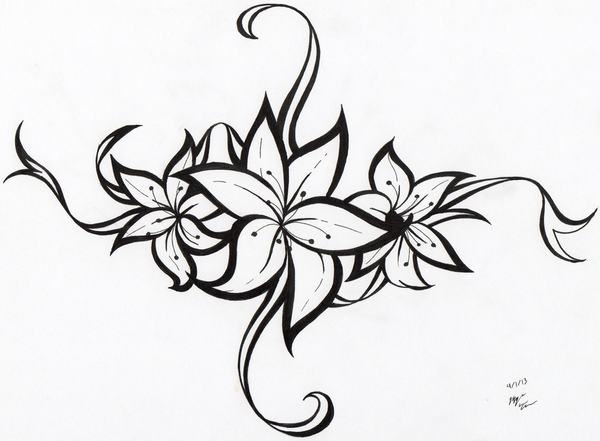 Flower Tattoo Tribal Ideas | Free Images at Clker.com ...