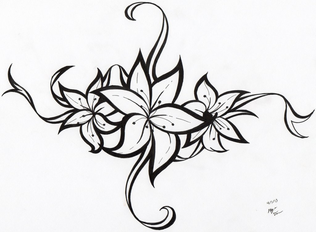 Flower Tattoo Tribal Ideas Free Images At