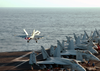 F/a-18c Launches From Uss Lincoln Image