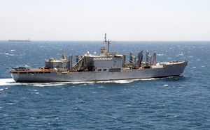 The Military Sealift Command Combat Stores Ship Usns Niagara Falls (t-afs 3) Underway Conducting Missions In Support Of Operation Iraqi Freedom Image