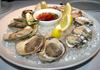Oysters White Plate Image