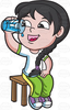 Person Drinking Water Clipart Image