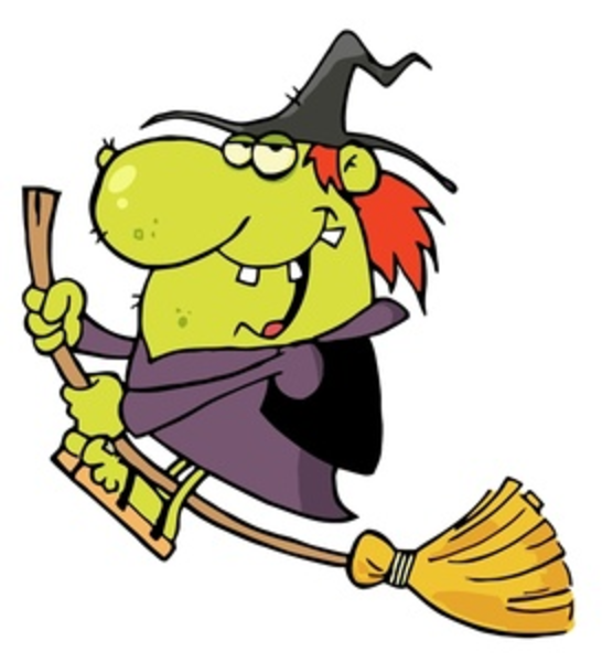 Funny Looking Old Cartoon Witch Riding Her Broomstick Smu imageCute Cartoon Witch