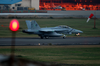An F/a-18f Super Hornet Lands At Naval Air Facility Atsugi Japan Image