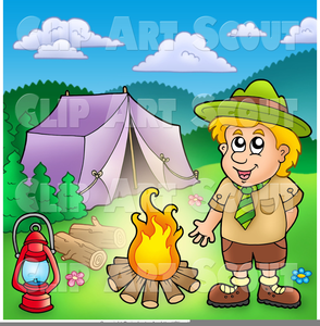 Cub Scout Camping Clipart Image