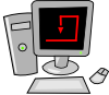 Computer Cartoon Desktop Clip Art