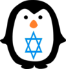Penguin With Jewish Star Clip Art