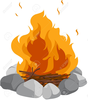 Singing Around The Campfire Clipart Image