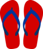 Red Flipflops Clip Art