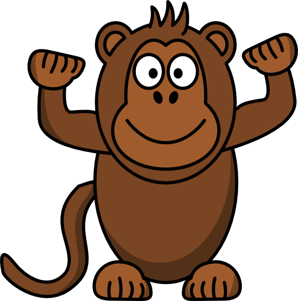 Monkey Clip Art at Clker.com - vector clip art online, royalty free ...