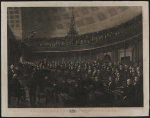 United States Senate Chamber  / Designed By J. Whitehorne ; Engraved By T. Doney. Image