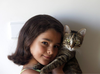 Px Girl And Cat Image