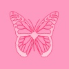 Pink Butterfly Image