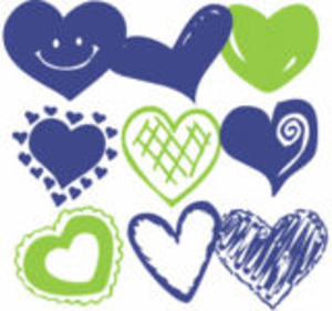 Colourful Valentine Blue Green Image