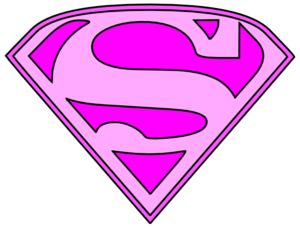 Pink Superman Logo Clip Art at Clker.com - vector clip art online ...