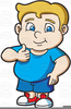 Fat Kid Clipart Image