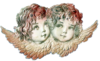 Vintage Angels Heads Wings Image