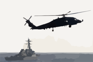 Sh-60f Seahawk Patrols The Waters Astern Of The Guided Missile Destroyer Uss Arleigh Burke (ddg 51) Clip Art